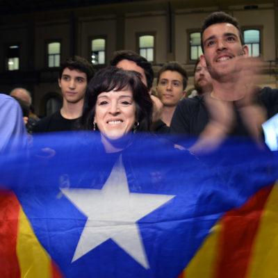 Celebració dels resultats d'ERC aquest 28-A a l'Estació del Nord de Barcelona/ Marina Bou