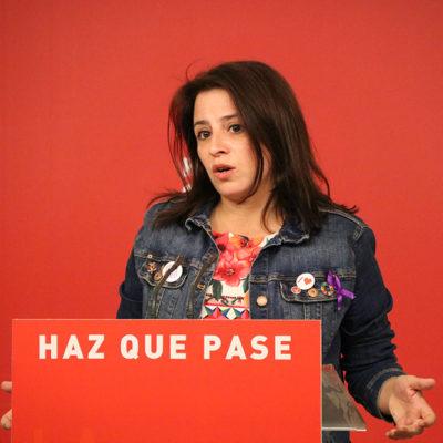 La vicesecretària general del PSOE, Adriana Lastra
