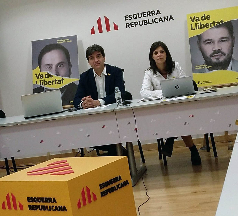 Sabrià i Vilalta presenten la campanya d'ERC de cara al 28-A
