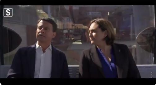 Ada Colau i Manuel Valls, en una imatge d'arxiu