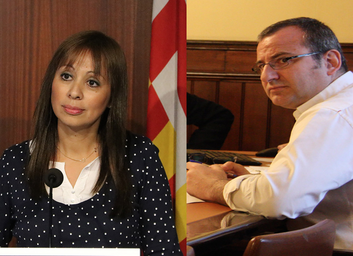 Marilén Barceló (Cs) i Alberto Villagrasa (PP)
