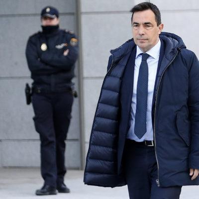 L'exdirector dels Mossos Pere Soler entrant a l'Audiència Nacional