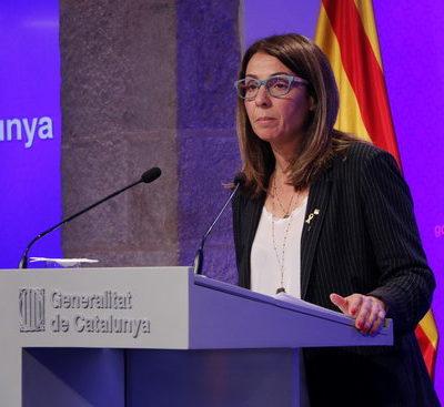 La consellera de la Presidència i portaveu del Govern, Meritxell Budó, en roda de premsa
