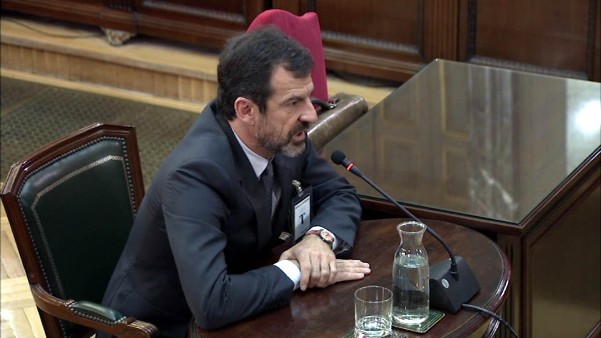 El comissari dels Mossos Ferran López declarant com a testimoni al Tribunal Suprem