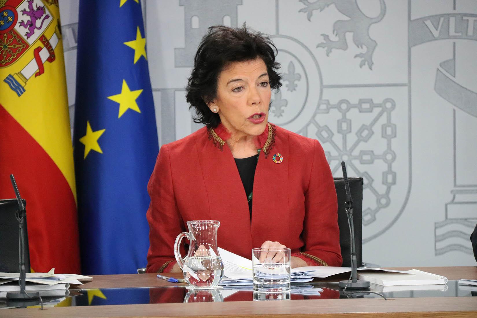 La portaveu del govern espanyol, Isabel Celaá, en una imatge d'arxiu