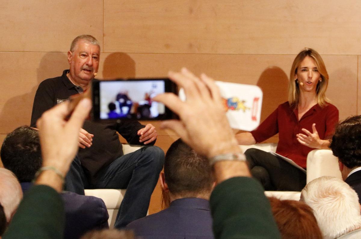 L'exsecretari general de CCOO José María Fidalgo i la candidata del PPC Cayetana Álvarez de Toledo