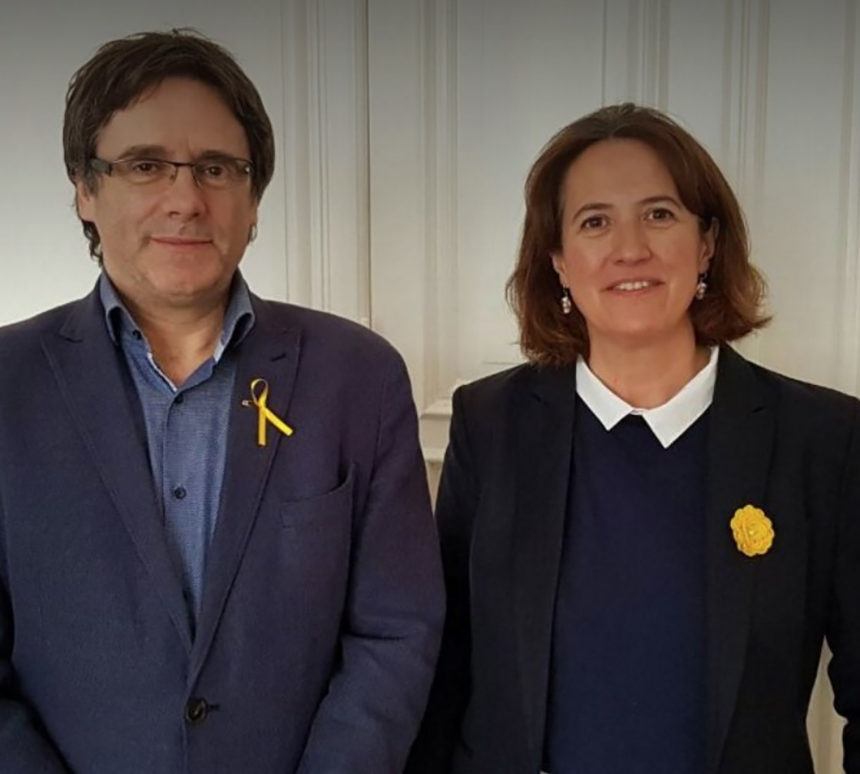 Carles Puigdemont i Elisenda Paluzie, en una imatge d'arxiu