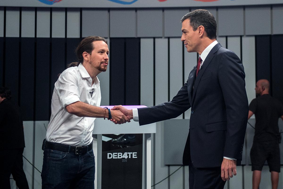 Pablo Iglesias i Pedro Sánchez, en una imatge d'arxiu