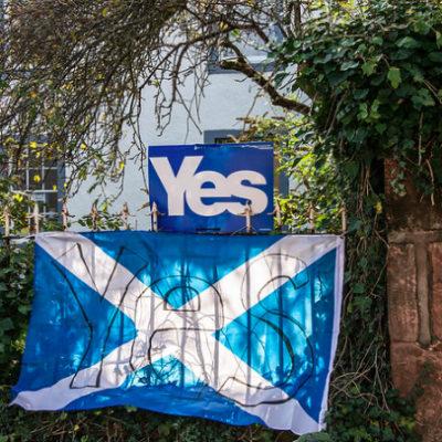 Imatge de la campanya del referèndum d'Escòcia, l'any 2014 / Flickr