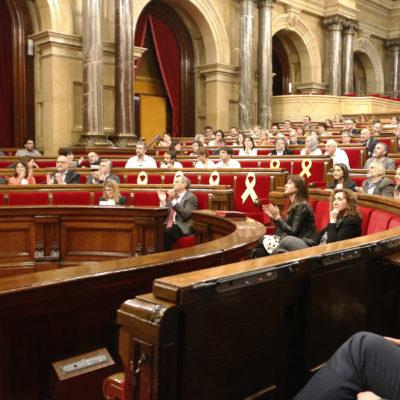 El ple del Parlament, durant la votació de la creació d'una comissió d'investigació de la monarquia