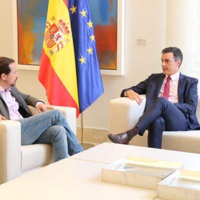 Pedro Sánchez i Pablo Iglesias, en una imatge d'arxiu