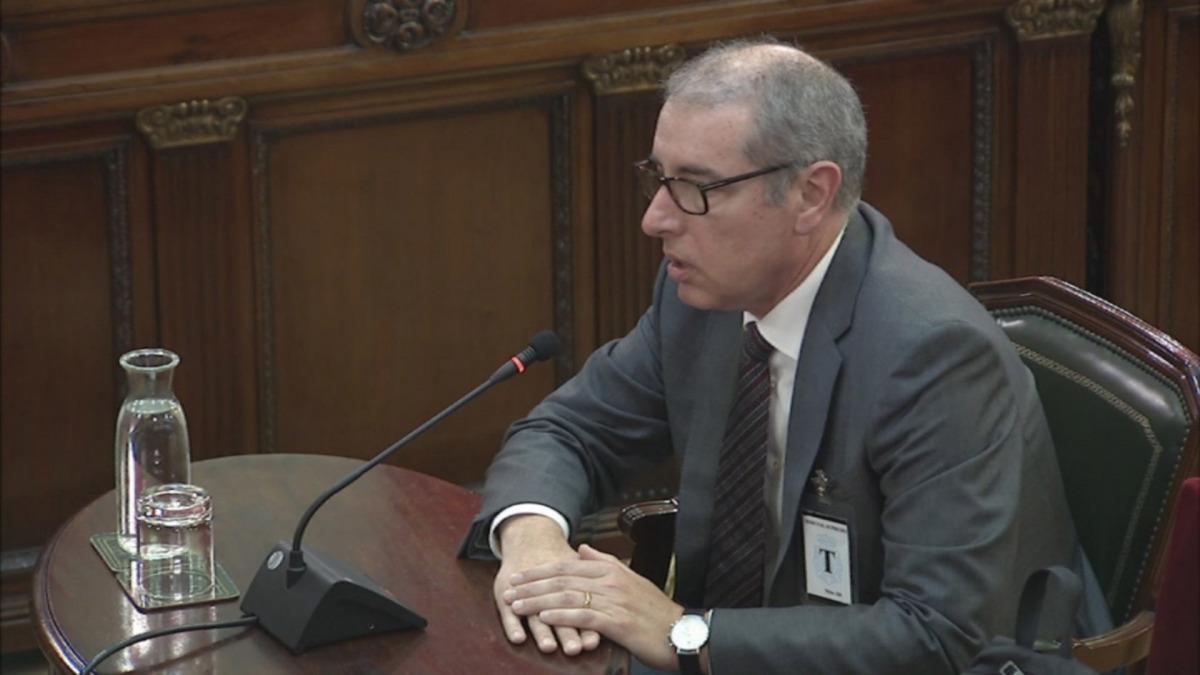 El director del Port de Barcelona, José Alberto Carbonell, en un moment de la seva declaració com a testimoni al Tribunal Suprem
