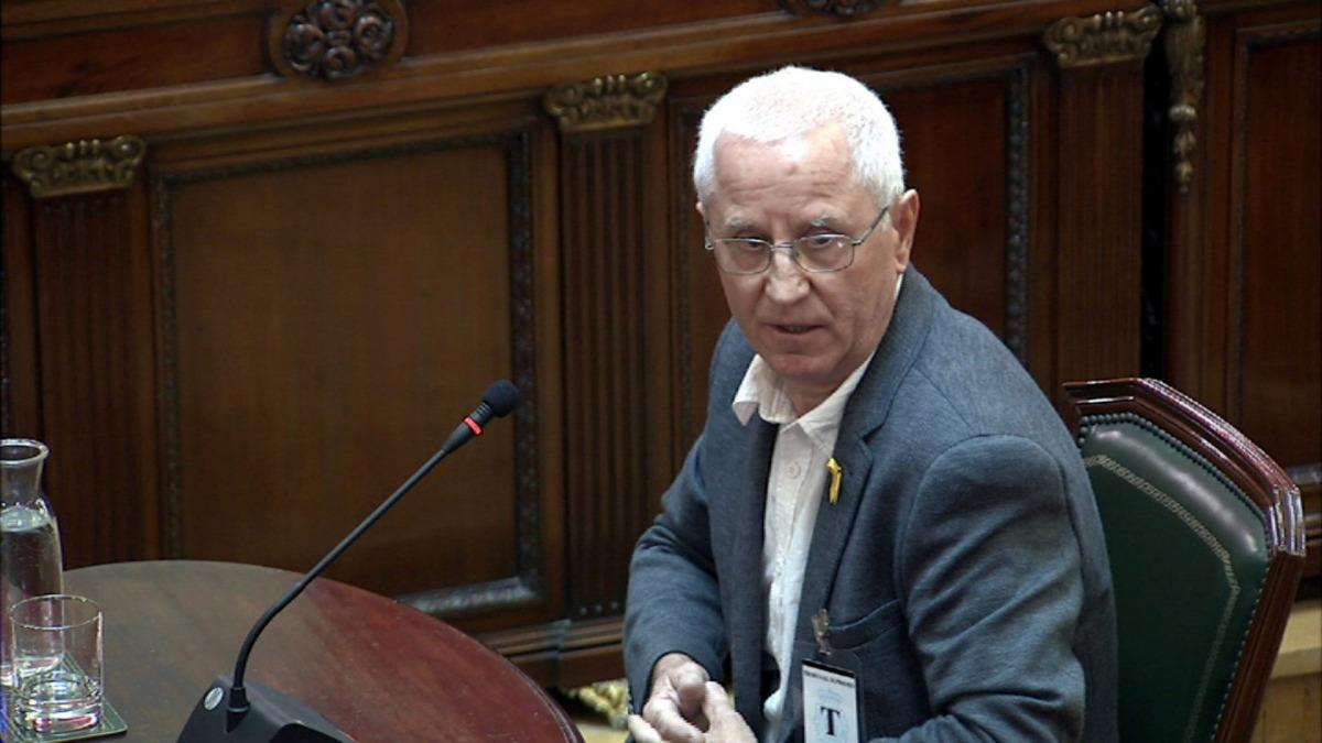 El policia jubilat de Sant Joan de Vilatorrada, Nemesio Fuentes, que ha declarat com a testimoni al Suprem