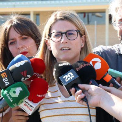 La regidora electe de JxCat a Barcelona, Elsa Artadi, en una atenció als mitjans