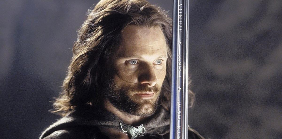 L'actor Viggo Mortensen interpretant el personatge d'Aragorn d'El senyor dels anells