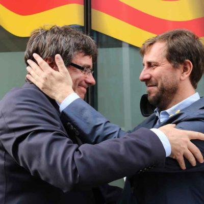 Imatge d'arxiu de Carles Puigdemont i Toni Comín / ACN