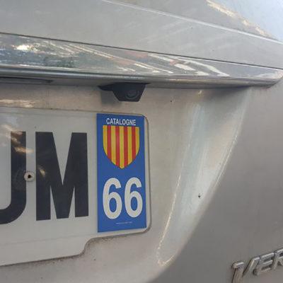 Una matrícula francesa amb la bandera catalana/ Radio France - Sébastien Berriot