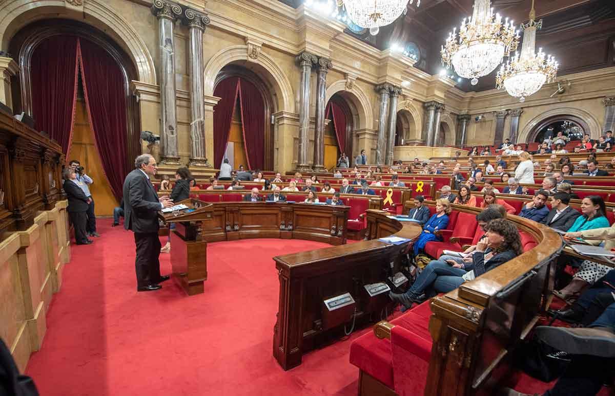 Imatge d'arxiu de l'interior del Parlament