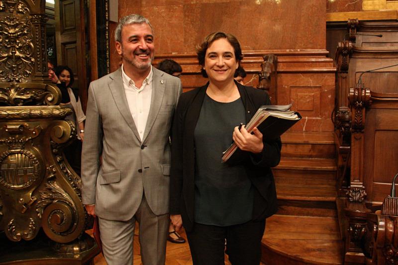 Ada Colau i el socialista Jaume Collboni, en una imatge d'arxiu