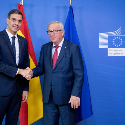 Pedro Sánchez amb Jean-Claude Juncker