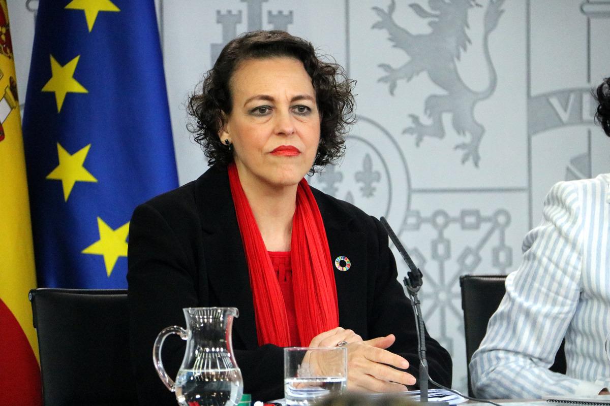 La ministra de Treball, Seguretat Social i Migracions en funcions, Magdalena Valerio