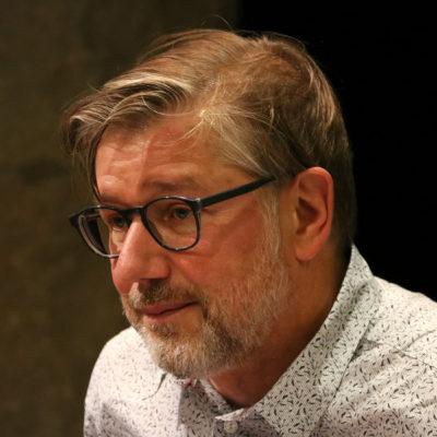 El periodista francès Jean Quatremer, durant l'entrega del premi Ernest Udina 2019