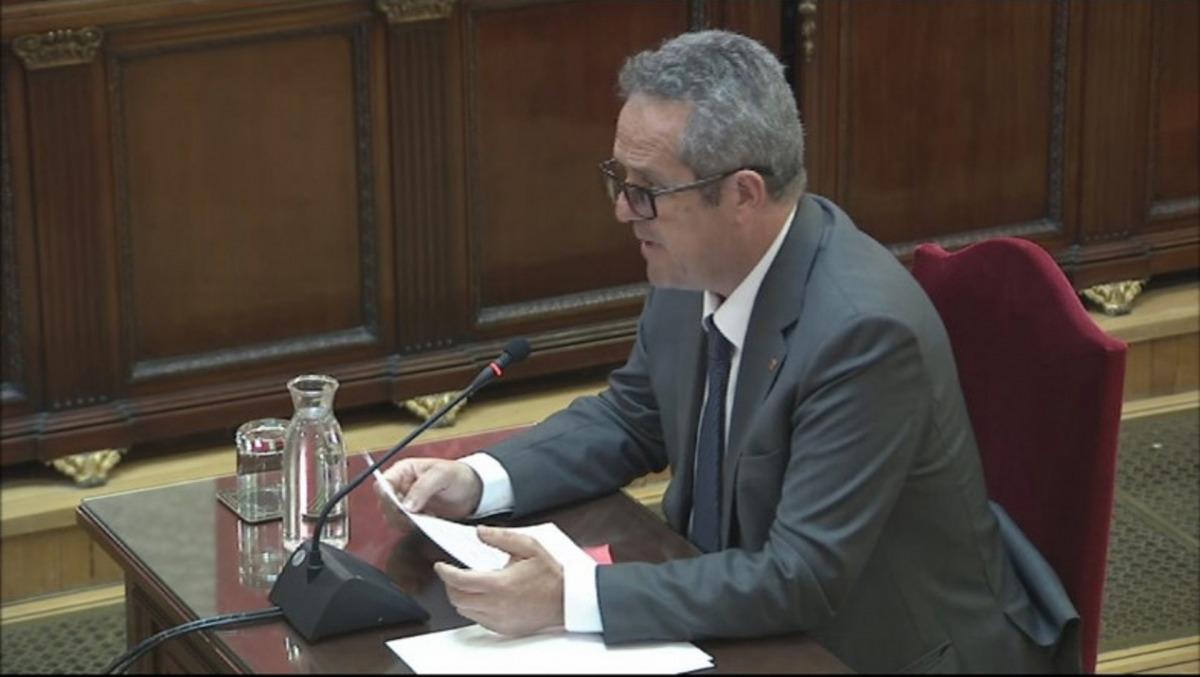 Joaquim Forn, durant l'últim torn de paraula al Tribunal Suprem