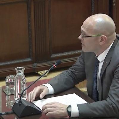 Raül Romeva, el darrer dia del judici de l'1-O