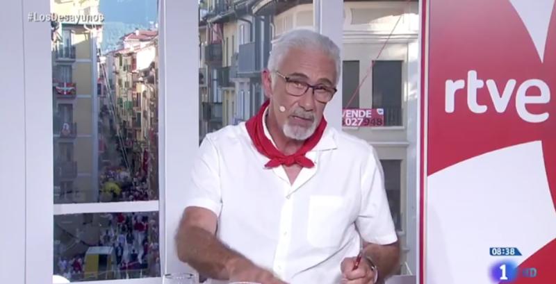 Una captura de pantalla del moment a TVE