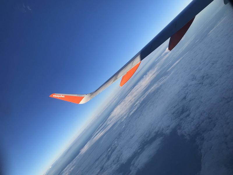 Imatge d'un avió d'EasyJet/ Twitter @easyJet