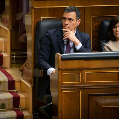 El president del govern espanyol, Pedro Sánchez, al Congreso