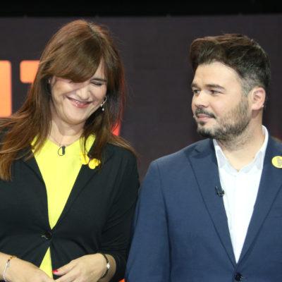Laura Borràs i Gabriel Rufián, en una imatge d'arxiu