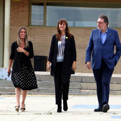 Míriam Nogueras (esquerra), Laura Borràs i Josep Lluís Cleries