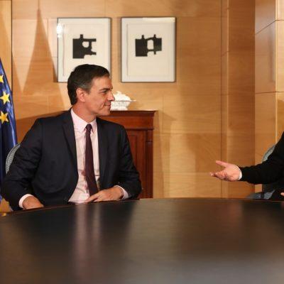 El secretari general del PSOE, Pedro Sánchez, i el líder de Podemos, Pablo Iglesias