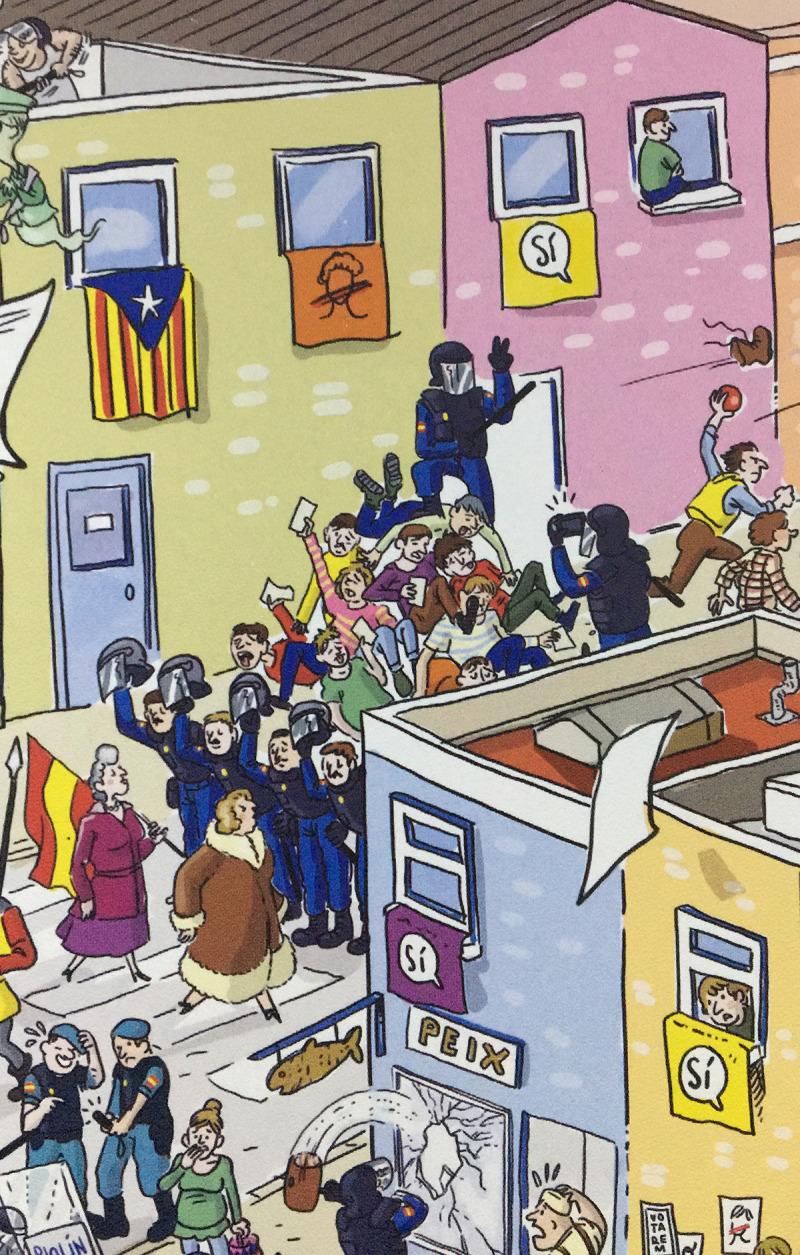 Vinyeta del còmic editat per Comanegra 'On és l'Estel·la?' de Toni Galmés.