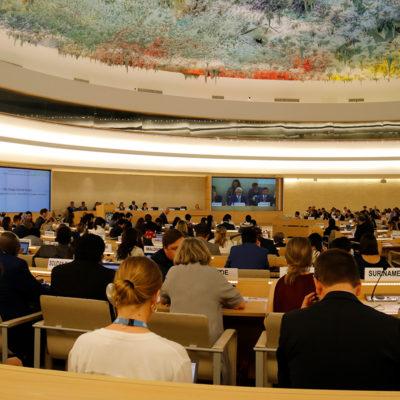 Pla general del plenari del Consell de Drets Humans de l'ONU, a Ginebra el 24 de juny del 2019