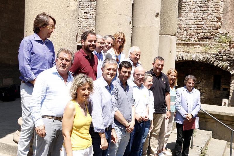 Els alcaldes que formen part de la directiva de l'AMI i que s'han reunit per última vegada aquest dimecres a Vic