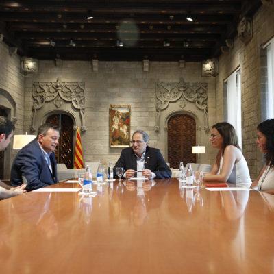 La reunió del president de la Generalitat, Quim Torra, amb l'AMI