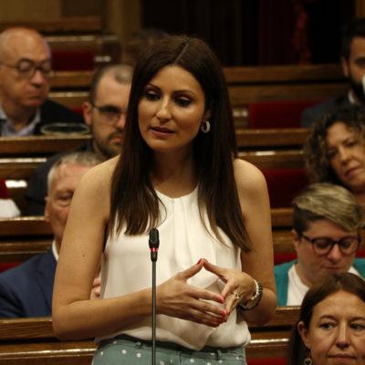 La portaveu de Cs, Lorena Roldán, al ple del Parlament