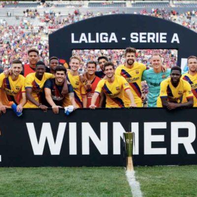 Imatge de la plantilla del Barça / FCBarcelona