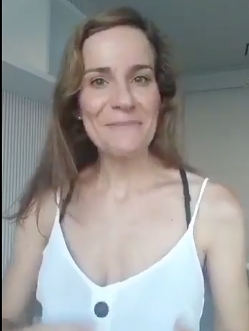Una captura de pantalla del vídeo de la regidora de VOX a Fuenlabrada , Isabel Pérez Moñino