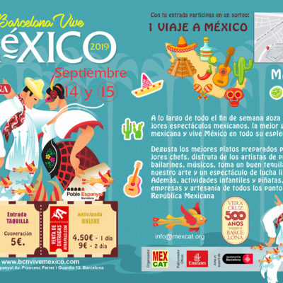 Cartell promocional del festival 'Barcelona Vive México' 2019