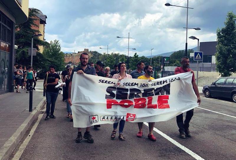 La Plataforma de suport a les 7 encausades de la Seu s'han manifestat aquest dijous 20 de juny del 2019 pels carrers de la Seu