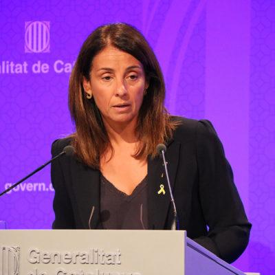 La consellera de la Presidència i portaveu del Govern, Meritxell Budó