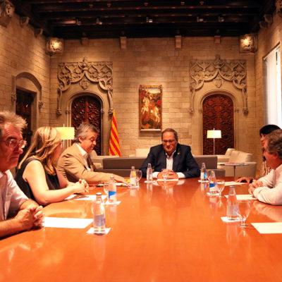 La reunió del president de la Generalitat, Quim Torra, amb membres de la Crida Nacional al Palau