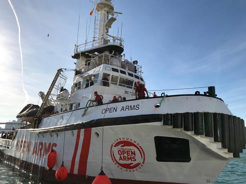 Imatge d'un vaixell d'Open Arms