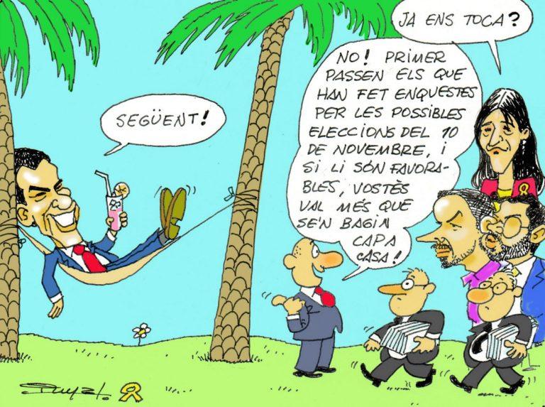 #0141 Sánchez vol eleccions, malgrat que alguns indepes li supliquen que no