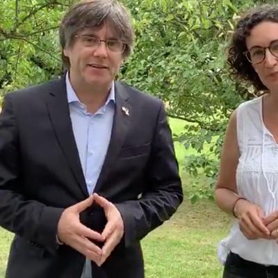 Missatge conjunt de Puigdemont i Rovira per la Diada 2019/ Twitter @assemblea