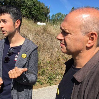 Els alcaldes de Sant Pere de Torelló i Sant Vicenç de Torelló/ Twitter @Natiadell
