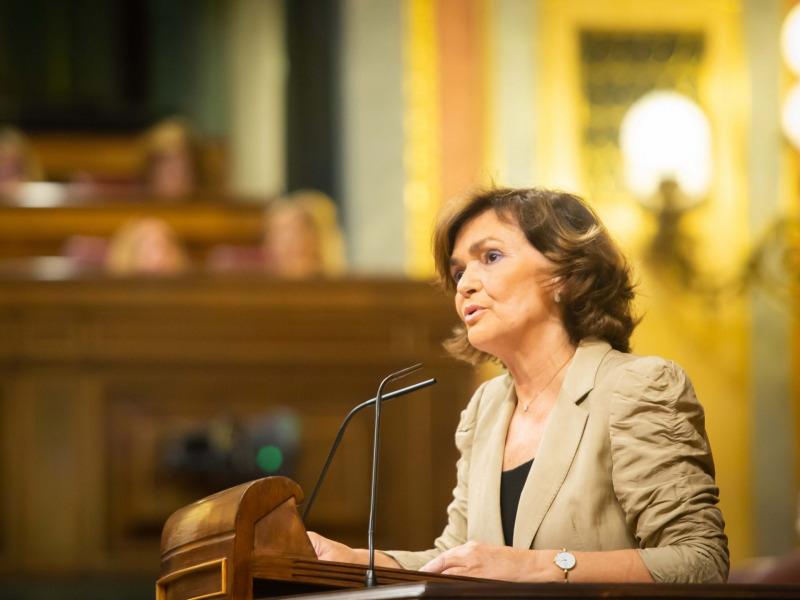 Carmen Calvo, en una imatge d'arxiu